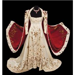 "Merle Oberon ""Empress Josephine"" Coronation gown with velvet and ermine robe from Desirée"