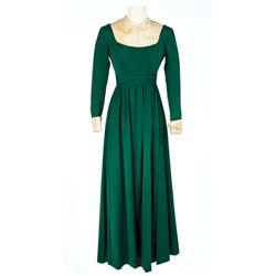 "Jean Simmons ""Desirée Clary"" green wool crepe simple dress from Desirée"