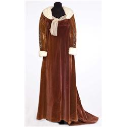 "Jean Simmons ""Desirée Clary"" brown velvet gown with ermine trim and matching hat from Desirée"