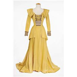 "Elizabeth Taylor ""Lady Patricia"" yellow satin period gown from Beau Brummell"