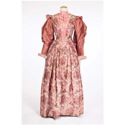 "Joan Collins ""Beth Throgmorton"" rose brocade period gown from The Virgin Queen"