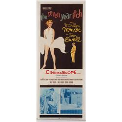 "The Seven Year Itch original 14"" x 36"" insert poster for Marilyn Monroe film"