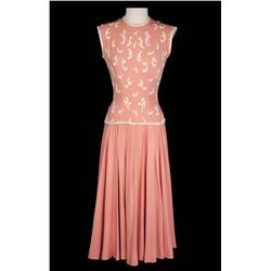 "Grace Kelly ""Frances Stevens"" 2-piece rose crepe outfit from scenic drive in To Catch a Thief"