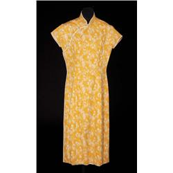 Jennifer Jones yellow cotton oriental dress from Love is a Many Splendored Thing