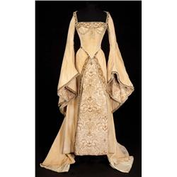 Lana Turner champagne velvet pearl-encrusted period court gown by Walter Plunkett from Diane