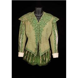 "Roger Moore ""Prince Henri"" green silk and velvet period court ensemble from Diane"