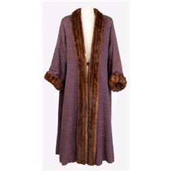Roger Moore Prince Henri purple silk robe with mink trim from Diane