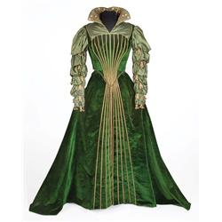 Marisa Pavan green velvet and satin period court gown by Walter Plunkett from Diane