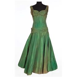 "Jane Withers ""Vashti Snythe"" green silk gown from Giant"