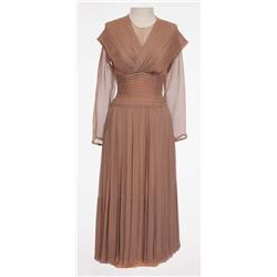 "Deborah Kerr ""Terry McKay"" signature taupe chiffon dress from An Affair to Remember"