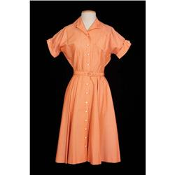 "Joanne Woodward ""Eve"" Peach polka dot dress from The Three Faces of Eve"