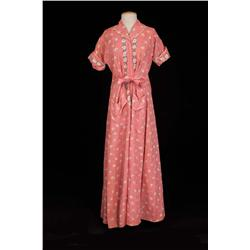 "Joanne Woodward ""Eve"" Pink cotton zip robe from The Three Faces of Eve"