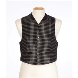 "Nigel Patrick ""Professor Jerusalem Webster Stiles"" black and white vest from Raintree County"