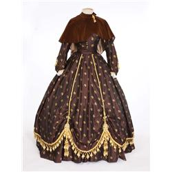 "Elizabeth Taylor ""Susanna Drake"" brown period dress from Raintree County"