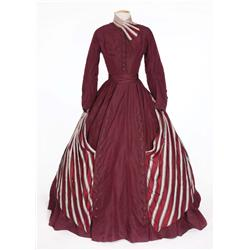 "Elizabeth Taylor ""Susanna Drake"" dark red period dress from Raintree County"