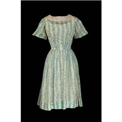 "Diane Varsi ""Allison MacKenzie"" floral blue dress from Peyton Place"