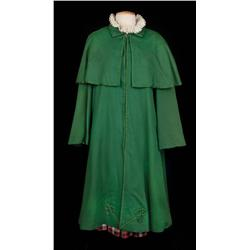 "Leslie Caron ""Gigi"" iconic signature plaid ""schoolgirl"" outfit including cape and hat from Gigi"