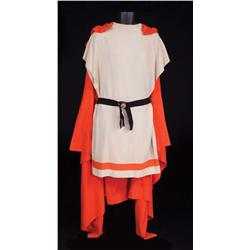 Roman Guard complete uniform with tunic, tangerine cape and brush-top copper helmet from Ben-Hur