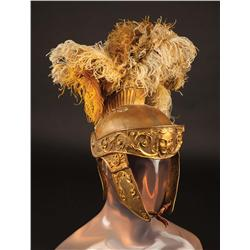 "Jack Hawkins ""Quintus Arrius"" plumed ornate Roman helmet and gold-colored sandals from Ben-Hur"
