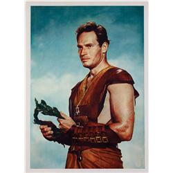 Ben-Hur special Charlton Heston portrait one-sheet