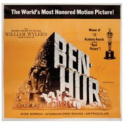 Ben-Hur 1969 re-release U.S. six-sheet poster signed by Charlton Heston