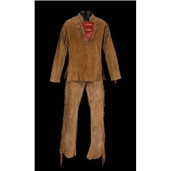 James Stewart suede leather trapper tunic and pants and hat from How the West Was Won
