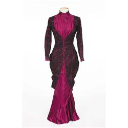 "Debbie Reynolds ""Lilith Prescott"" pleated silk gown with lace overlay from How the West Was Won"