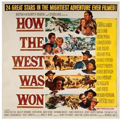 How the West Was Won original U.S. six-sheet poster