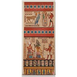Cleopatra large-scale original concept paintings (3) as design models for Egyptian hieroglyphics