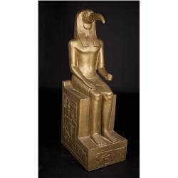 "Monumental gold-painted ""Thoth"" figure from Cleopatra"