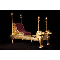 "Elizabeth Taylor's ""Cleopatra"" Royal sedan chair from Cleopatra"