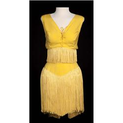 "Janet Leigh ""Rosie DeLeon"" two-piece fringed goldenrod ""cooch dance"" costume from Bye Bye Birdie"