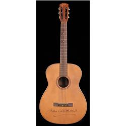 "Julie Andrews ""Maria"" acoustic guitar, autographed by Andrews, from The Sound of Music"