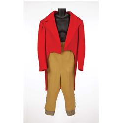 "Peter Bull ""General Bellowes"" red wool tailcoat & pantaloons from Doctor Dolittle"