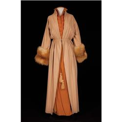 "Anne Francis ""Georgia James"" pumpkin silk dress from Funny Girl"
