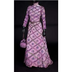 Barbra Streisand Dolly Levi signature purple period dress with purse and bustle from Hello, Dolly!