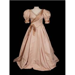 "Joyce Ames ""Ermengarde Vandergelder"" pale pink gown and shoes from Hello, Dolly!"