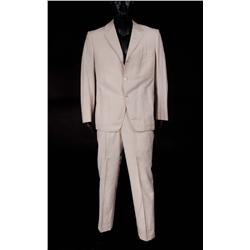 "Rex Reed ""Myron"" signature light rose linen suit from Myra Breckinridge"