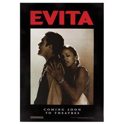 Evita original U.S. subway/bus shelter poster