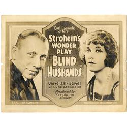 Blind Husbands original 1919 title-card for Erich von Stroheim's first directed film