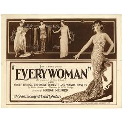 Pair of silent title and lobby cards featuring elaborate design