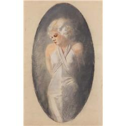 Original portrait artwork of Jean Harlow