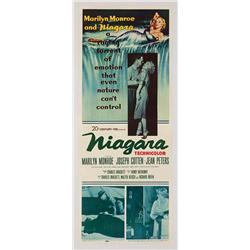 "Niagara original 14"" x 36"" insert poster for Marilyn Monroe film"