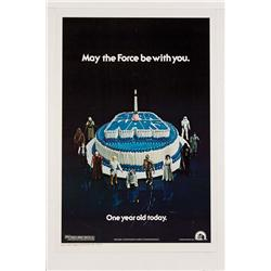 "Star Wars: Episode IV- A New Hope rolled 1978 ""Happy Birthday"" U.S. one-sheet poster"