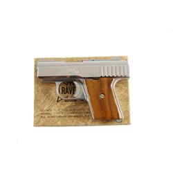 Raven Arms Mdl P25 Cal .25auto SN:481299 Very nice single action semi-auto pocket pistol. Nickel fin