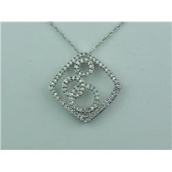 Marvelous 10K White Gold Ladies Necklace Pave set with 88 round diamonds weighing approx. 0.40 carat