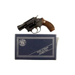Smith & Wesson Mdl 32-1 .38S&W SN:102731 Double action 5 shot pocket revolver. Blued finish, checker