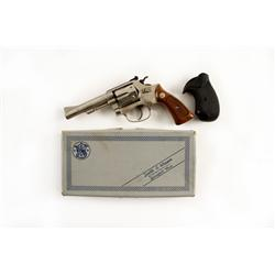 "Smith & Wesson Mdl 34 Cal .22LR SN:M123204 Double action 6 shot ""Kit Gun"" in .22 LR chambering. Fact"