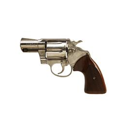 Colt Cobra Cal .38 Sp SN:75126M Alloy frame double action 6 shot concealed carry revolver. Nickel fi
