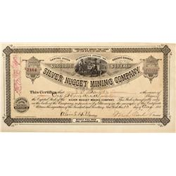 AZ - Globe Mining District,Maricopa County - August 10, 1881 - Silver Nugget Mining Company Stock Ce